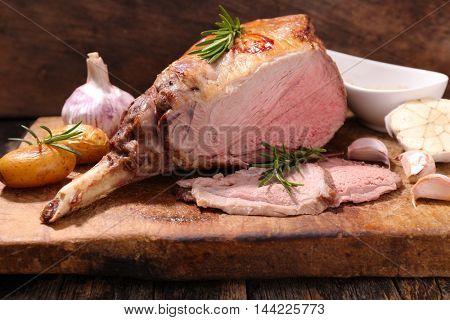 lamb leg on board