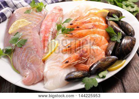 assorted fish and crustacean