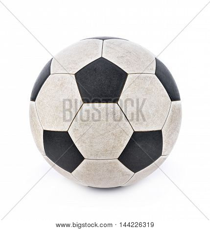 Dirty soccer ball on white background soccerball
