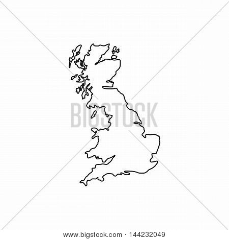 Map of Great Britain icon in outline style isolated on white background. State symbol