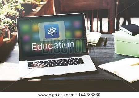 Study Education E-Learning Application Icon Graphic Concept