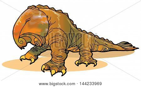 illustration of fantasy creature in another or imagination  world in vector