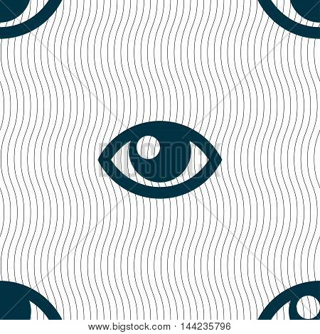 Eye Sign. Seamless Pattern With Geometric Texture. Vector