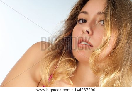 Portrait Of A Beautiful Blonde Woman