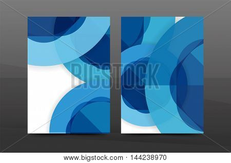 Annual report cover. Geometric abstract background. Brochure, flyer template layout, vector leaflet