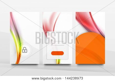 Mobile background ui - geometric abstract pattern. Application wallpaper blank layout