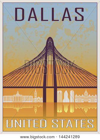 Dallas Vintage Poster