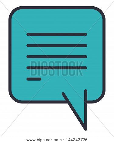 speech bubble message isolated icon vector illustration design
