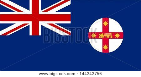 The flag of New South Wales state in the country of Australia