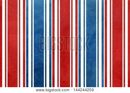 Watercolor Dark Blue And Dark Red Striped Background