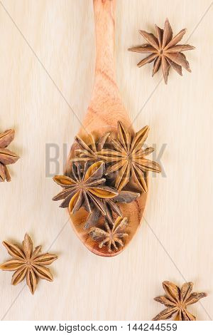 Star Anise On The Spoon