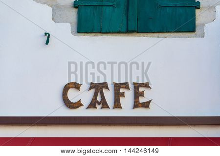 Cafe sign in the French Basque country