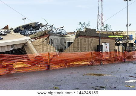 Kokomo - August 24 2016: Several EF3 tornadoes touched down, one of which destroyed a local Starbucks 2