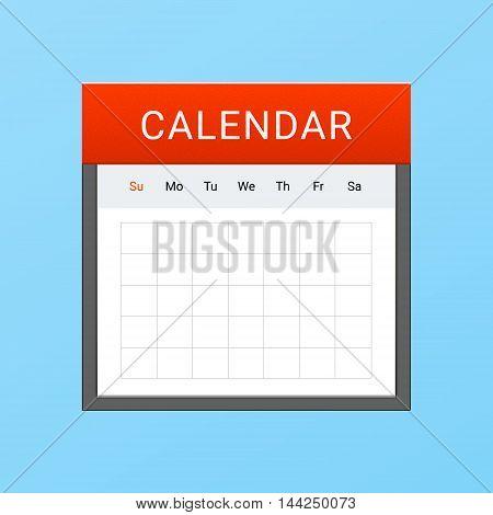 Minimalistic Vector Light Clean Daily Calendar Icon