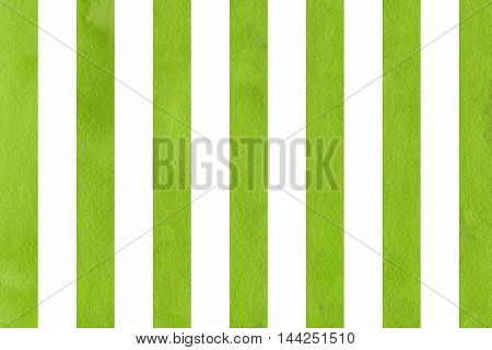 Watercolor Green Striped Background.