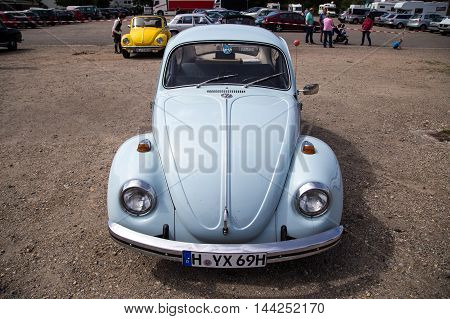 Celle, Germany - August 7, 2016: Front view of a Volkswagen Kaefer at the annual Kaefer Meeting