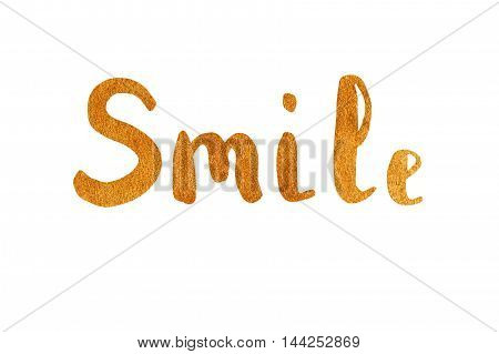 The Word Smile. Lettering.