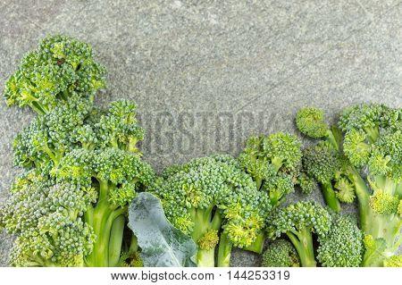 Broccoli On Stone Table