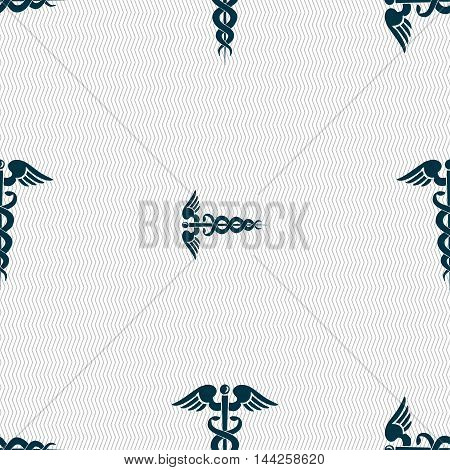 Medicine Sign. Seamless Pattern With Geometric Texture. Vector
