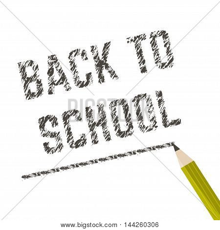 Poster school Educational back to school written on paper. Vector illustration