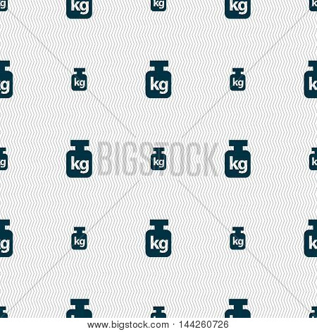 Weight Sign. Seamless Pattern With Geometric Texture. Vector