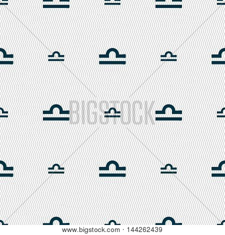 Decorative Zodiac Libra Sign. Seamless Pattern With Geometric Texture. Vector