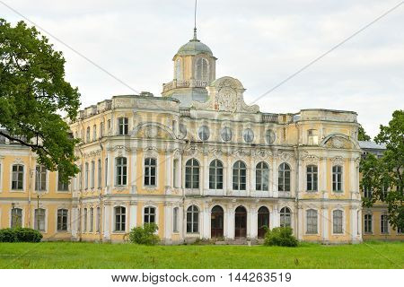 Baroque palace in the estate Znamenka near St.Petersburg Russia.