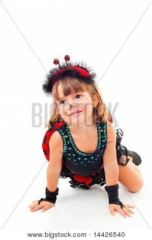 Child As Ladybug
