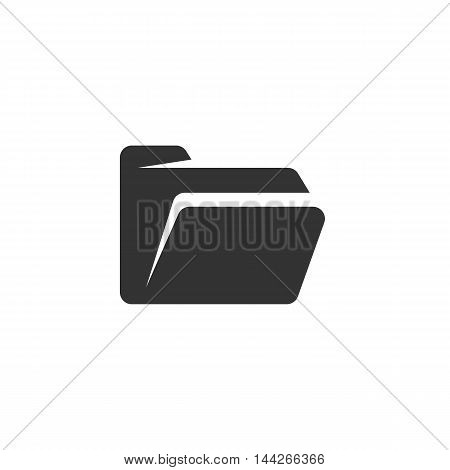 Folder icon isolated on white background