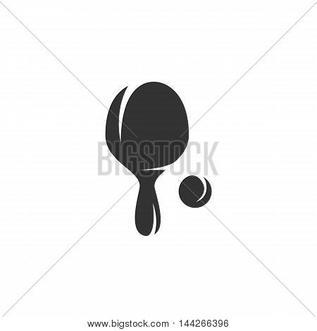 Ping Pong icon isolated on white background