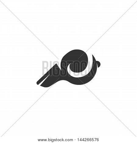 Whistle icon isolated on white background