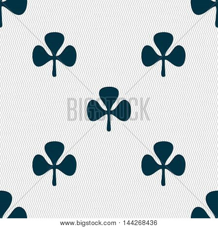 Clover Sign. Seamless Pattern With Geometric Texture. Vector