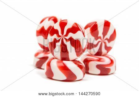candy color dessert on a white background