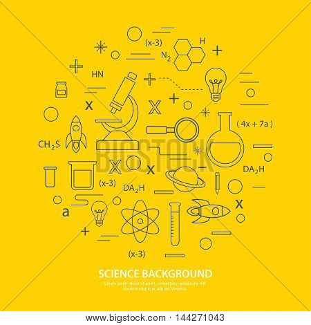 science icon background for web and print