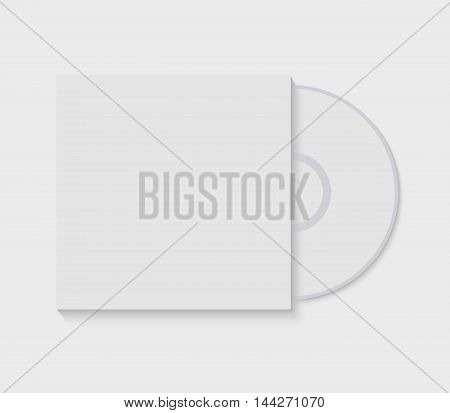 Vector illustration CD with blank cover template isolated on white.