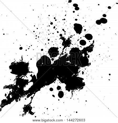 Vector splatter black color background. illustration vector design