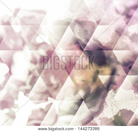 Abstracts background with transparent rectangular shapes as conceptual metaphor for modern technology, science and business.