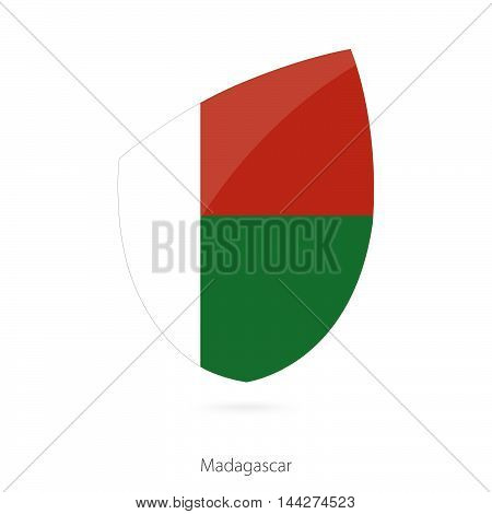 Flag Of Madagascar In The Style Of Rugby Icon.