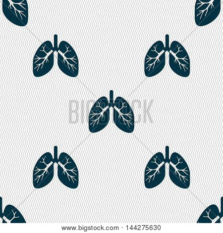 Lungs Sign. Seamless Pattern With Geometric Texture. Vector
