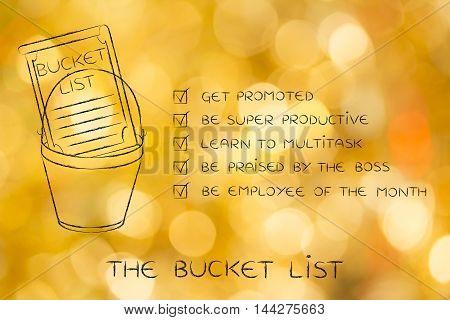 Bucket List With Employee's Career Goals
