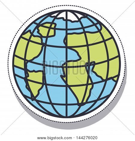 planet earth sphere isolated icon vector illustration design