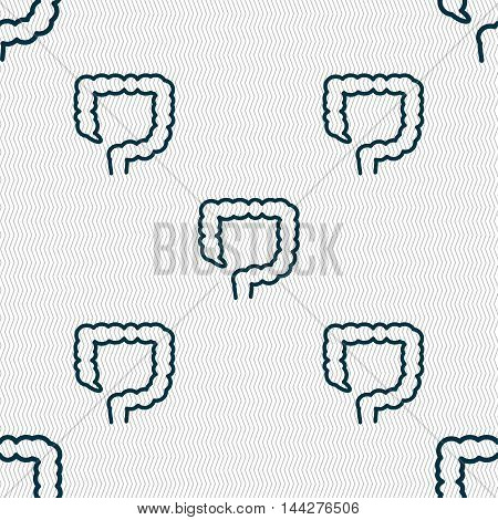 Large Intestine Sign. Seamless Pattern With Geometric Texture. Vector