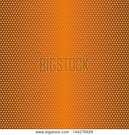 hexagon seamless pattern background, no mesh, no gradient, no transparent, line half tone on honey theme