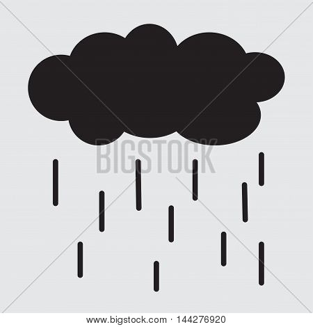 Rain Cloud vector icon. Rain Cloud icon symbol. Rain Cloud icon image. Rain Cloud icon picture.