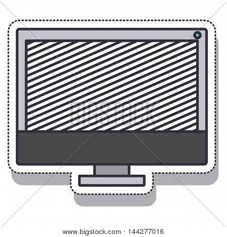 computer desktop isolated icon vector illustration design