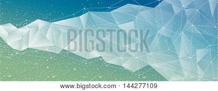 Abstract geometric starry banner full vector elements