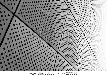 Seoul, South Korea - August 14, 2016: Part Of A Wall At Dongdaemun Design Plaza In Seoul, Designed B