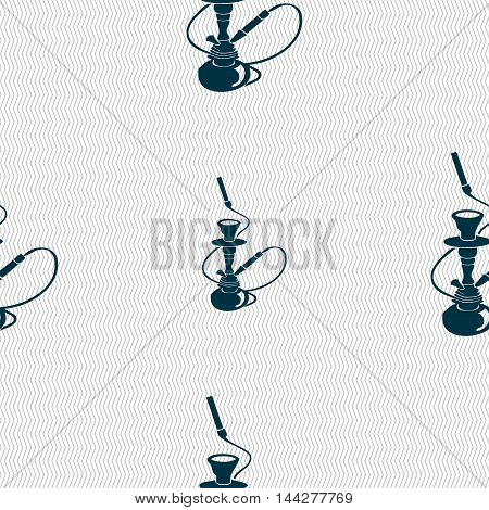 Hookah Sign. Seamless Pattern With Geometric Texture. Vector