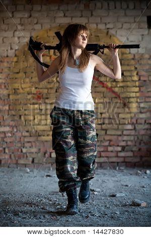 Walking Mercenary Woman
