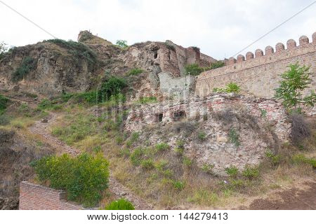 The ruins of The medieval fortress of Narikala, The Republic Of Georgia